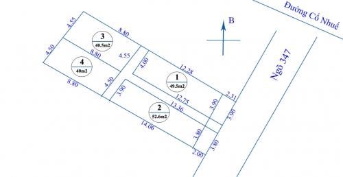 Cần bán nhanh đất số 84, ngõ 347 đường Cổ Nhuế, Bắc Từ Liêm, Hà Nội [ĐÃ BÁN]