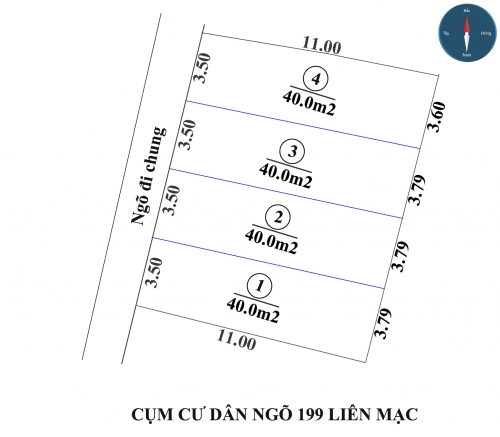 Bán đất phân lô tại TDP Đại Cát 2 ngõ 199 đường Liên Mạc, phường Liên Mạc, quận Bắc Từ Liêm, Hà Nội