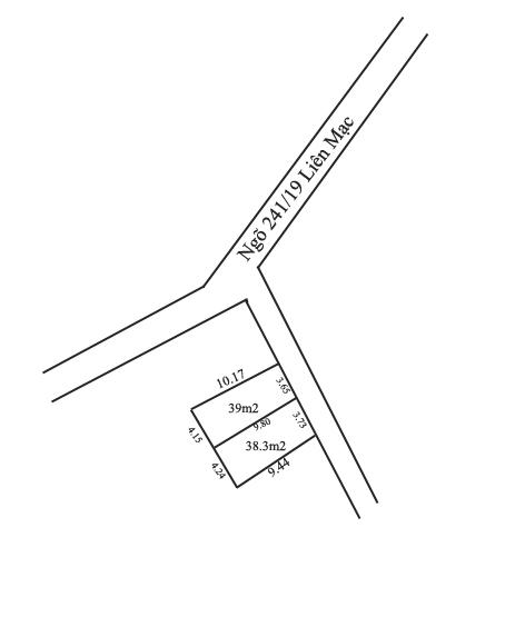 Bán 2 lô đất ngõ 241 đường Liên Mạc, Bắc Từ Liêm