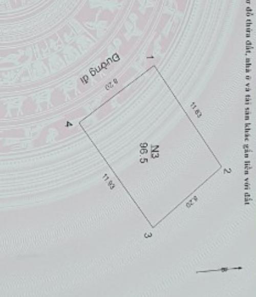 Bán đất 96.6m2 thuộc Đình Quán - Bắc Từ Liêm ô tô vào nhà phù hợp kinh doanh