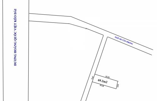 Cần bán nhanh đất tại Thụy Phương, gần hồ câu Tân Phong, diện tích 69.2m2 giá đầu tư