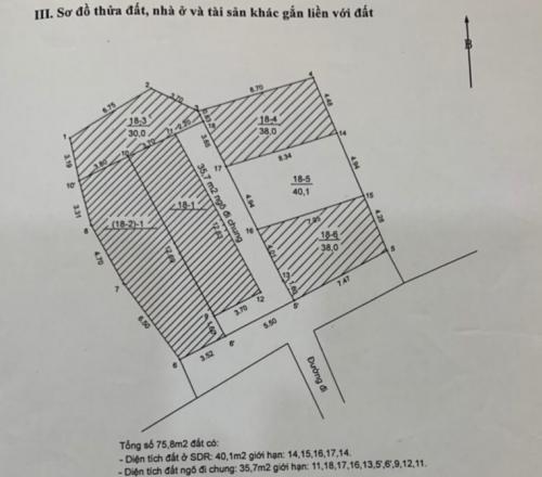 Bán đất gần hồ Đức Diễn 40.1m2 Bắc Từ Liêm - Hà Nội [ĐÃ BÁN]