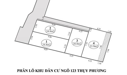 Bán đất phân lô đất thổ cư tại trung tâm phường Thụy Phương cổ, giá chỉ từ 950-1,3 tỷ